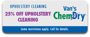 25% Off Upholstery Cleaning